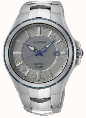 Seiko Coutura   pulseira de aço inoxidável   mostrador cinza / prata SNE565P9
