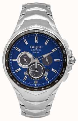 Seiko Coutura   pulseira de aço inoxidável   mostrador azul SSC749P1