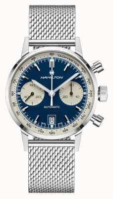Hamilton Clássico americano | auto crono intra-matic | pulseira de malha de aço H38416141