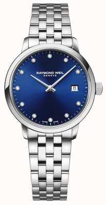 Raymond Weil Toccata | 11 diamante mostrador azul | pulseira de aço inoxidável 5985-ST-50081