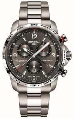 Certina Quartzo pódio ds | pulseira de titânio cinza | mostrador cinza C0016474408700