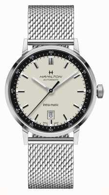 Hamilton Clássico americano | intramatic | pulseira em malha de aço | mostrador branco H38425120