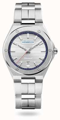 Michel Herbelin Cap camarat   automático   mostrador prateado   pulseira de aço inoxidável 1645/B42