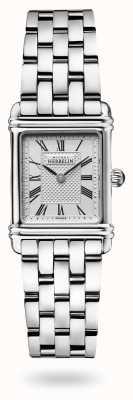 Michel Herbelin Art déco   pulseira de aço inoxidável   mostrador prateado 17478/08B2