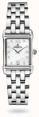 Michel Herbelin Art déco | pulseira de aço inoxidável | madrepérola mostrador 17478/59B2