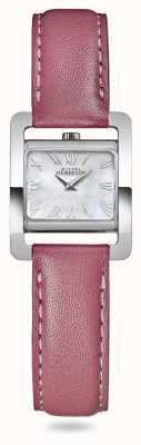 Michel Herbelin Avenida V | pulseira de couro rosa | madrepérola mostrador 17037/09ROZ