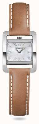 Michel Herbelin Avenida V | pulseira de couro marrom madrepérola 17037/09GO