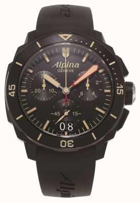 Alpina Mergulhador Seastrong 300 | cronógrafo | pulseira de silicone preta AL-372LBBG4FBV6