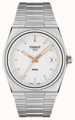 Tissot Mostrador prx 40 mm de quartzo prata masculino T1374101103100