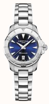 Certina Feminino ds ação azul mostrador 200m C0329511104100