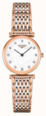 Longines Mulheres | la grande classique | mostrador de diamante | pulseira de aço de dois tons L42091977