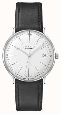 Junghans Max bill | kleine | automático | pulseira de couro preta 27/4105.02