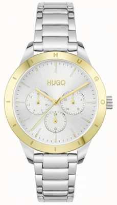 HUGO #friend | pulseira de aço inoxidável | mostrador prateado 1540090