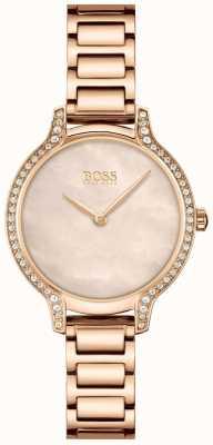 BOSS | gala | mulheres | pulseira em ouro rosa | mostrador pérola em ouro rosa | 1502556