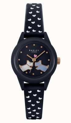 Radley Cuidado! | pulseira de silicone marinho para senhora | mostrador da marinha RY21262
