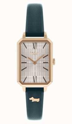 Radley | mulheres | pulseira de couro da marinha | mostrador retângulo branco | RY21206
