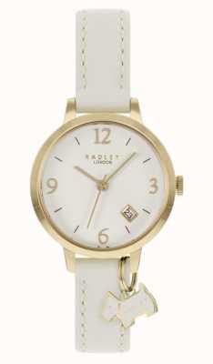Radley | mulheres | pulseira de couro creme | mostrador creme | RY21210