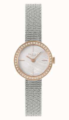 Radley | mulheres | pulseira em malha de aço prateado | madrepérola dial | RY4567