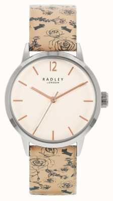 Radley | mulheres | pulseira de couro bege | mostrador branco | RY21245A