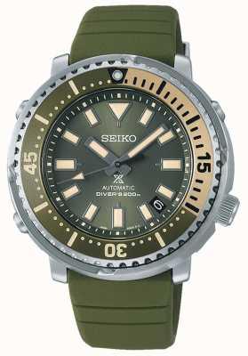Seiko Prospex | série de rua mini edição safari de atum | pulseira de silicone verde | SRPF83K1