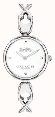 Coach Caroll | pulseira de aço inoxidável para senhora | mostrador branco 14503750