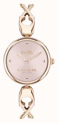 Coach Caroll | pulseira de ouro rosa para senhora | mostrador rosa 14503751
