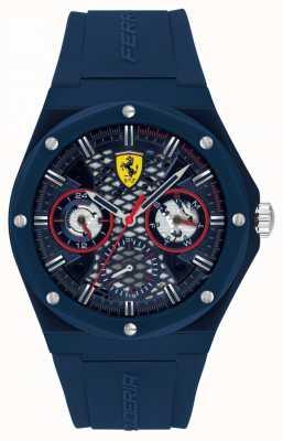Scuderia Ferrari Aspire | pulseira de silicone azul para homem | mostrador azul 0830788
