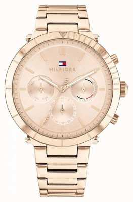 Tommy Hilfiger Emery | pulseira feminina de aço ouro rosa | mostrador de ouro rosa 1782347