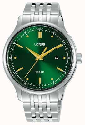 Lorus Homens | mostrador raio de sol verde | pulseira de aço inoxidável RH907NX9