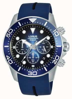 Lorus Homens | cronógrafo | mostrador azul | pulseira de silicone azul RT349JX9