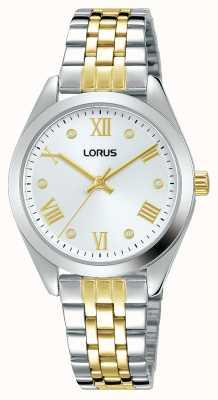 Lorus Mulheres | mostrador prateado | pulseira de aço inoxidável de dois tons RG253SX9