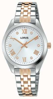Lorus Mulheres | mostrador prateado | pulseira de aço inoxidável de dois tons RG255SX9