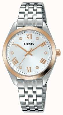 Lorus Mulheres | mostrador prateado | pulseira de aço inoxidável RG256SX9