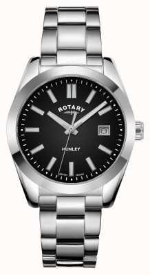 Rotary Mulheres | Henley | mostrador preto | pulseira de aço inoxidável LB05180/04