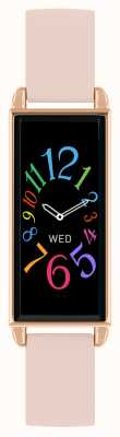 Reflex Active Relógio inteligente da série 2   tela de toque colorida   pulseira de couro rosa RA02-2006