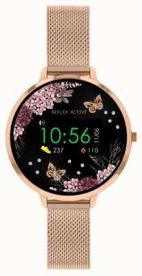 Reflex Active Relógio inteligente da série 3 | pulseira de malha de aço inoxidável ouro rosa RA03-4038