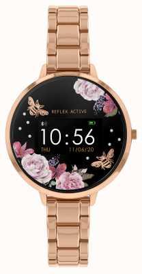 Reflex Active Relógio inteligente da série 3 | pulseira de aço ouro rosa RA03-4012