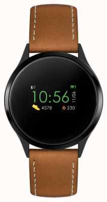 Reflex Active Relógio inteligente da série 4 | tela de toque colorida | cinta marrom RA04-1000
