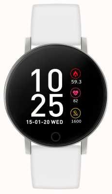 Reflex Active Relógio inteligente da série 5 | monitor hr | tela de toque colorida | pulseira branca RA05-2019