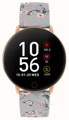 Reflex Active Relógio inteligente da série 5   monitor de hora   tela de toque colorida   cinta cinza RA05-2064