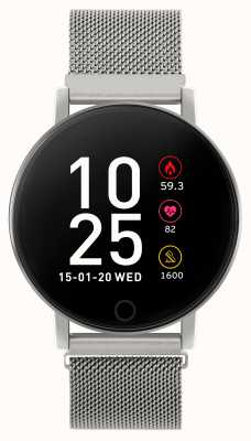 Reflex Active Relógio inteligente da série 5 | monitor hr | tela de toque colorida | malha de aço RA05-4015