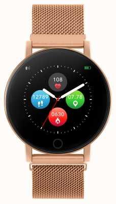 Reflex Active Relógio inteligente da série 5 | monitor hr | tela de toque colorida | malha de aço ouro rosa RA05-4016