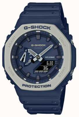 Casioak | pulseira de resina azul | mostrador azul GA-2110ET-2AER