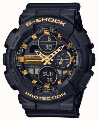 Casio Esportes unissex | g-shock | pulseira de resina preta | dal preto | GMA-S140M-1AER