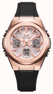 Casio G-shock   msg -rose-gold ip   pulseira de resina preta   MSG-S600G-1AER