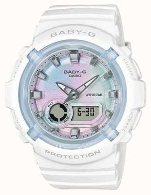 Casio Baby-g | pulseira de resina branca | mostrador multicolorido BGA-280-7AER