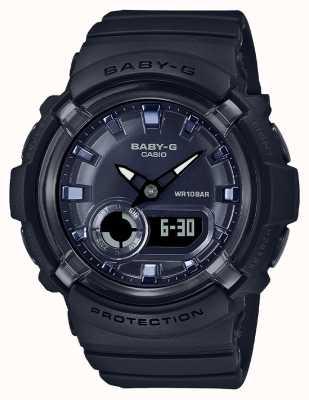 Casio Baby-g | pulseira de resina preta | mostrador preto | BGA-280-1AER