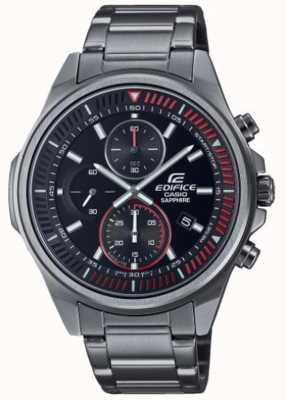 Casio Edifice - coleção clássica | pulseira de aço inoxidável | mostrador preto EFR-S572DC-1AVUEF