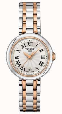 Tissot Bellissima | mostrador prateado | pulseira de aço inoxidável de dois tons T1260102201301