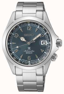 Seiko Alpinista masculino - edição europeia de 2021 | mostrador azul | pulseira de aço inoxidável SPB197J1